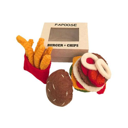 Burger and Chips Felt Play-Food Set.