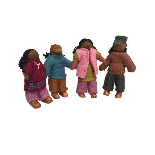 Family of 4 Dolls- African