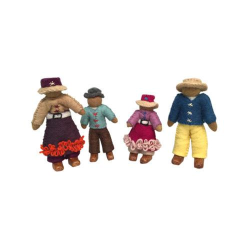 Family of 4 Dolls- Asian