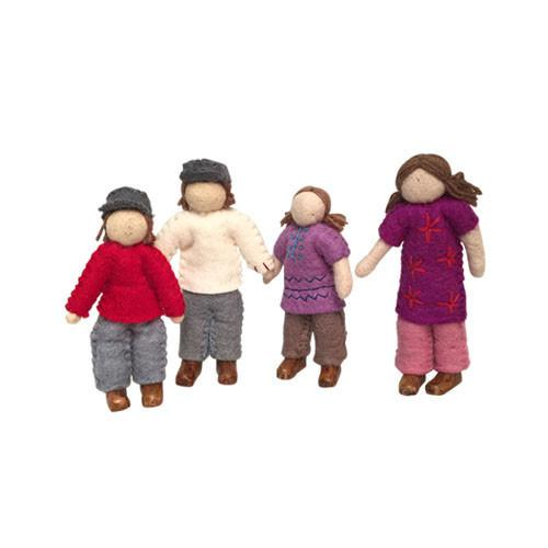 Family of 4 Dolls- Caucasian