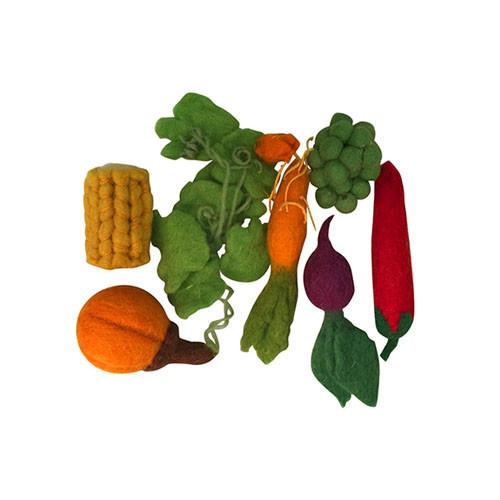 Mini Vegetable Felt Play-Set