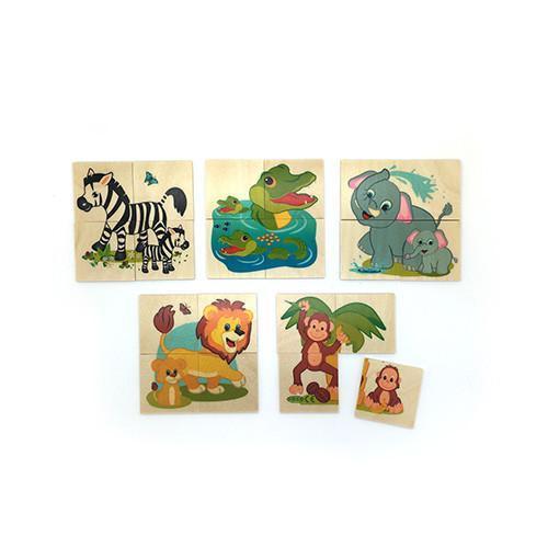 5 Mini Animal Puzzles