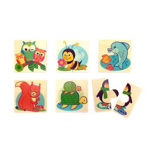 6 Mini Animal Puzzles
