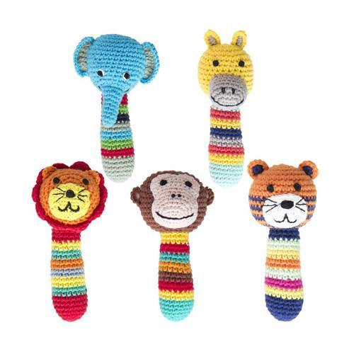 Crochet Safari Animal Rattles
