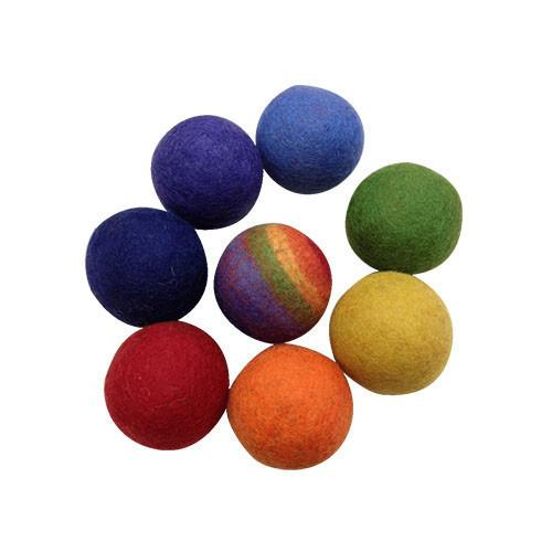 Felt Rainbow Ball Game- Set of 8