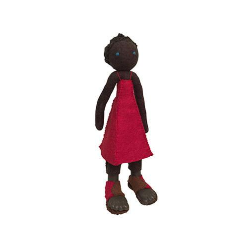 Felt Doll- Ngozi from Nigeria